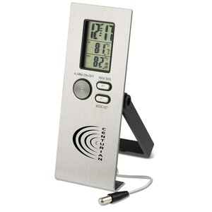 Clock w/Indoor/Outdoor Thermometer