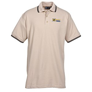 Stain Release Tipped Pique Polo - Men's