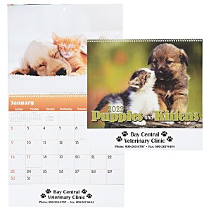 Paws - Puppies & Kittens Calendar - Spiral Main Image