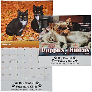 Paws - Puppies & Kittens Calendar - Stapled Main Image