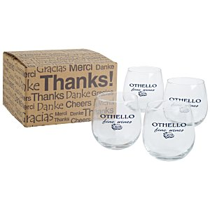 Stemless Red Wine Glass Set - 16.75 oz. Main Image