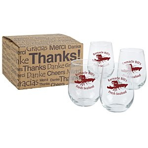 Stemless White Wine Glass Set - 17 oz. Main Image