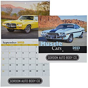 Muscle Cars Calendar - Stapled - 24 hr Main Image