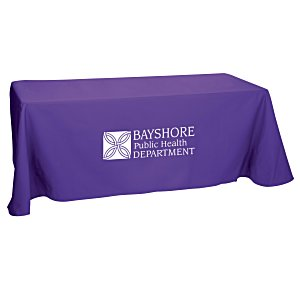 Open-Back Poly/Cotton Table Throw - 6' Main Image
