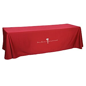 Open-Back Poly/Cotton Table Throw - 8'