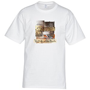 Hanes Tagless T-Shirt - Full Color - White Main Image