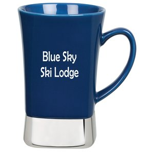Steel Bottom Ceramic Mug - 12 oz. - Closeout Main Image