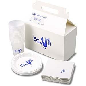 Snack Pack - Plastic Plate/Cup and Napkin Set Main Image