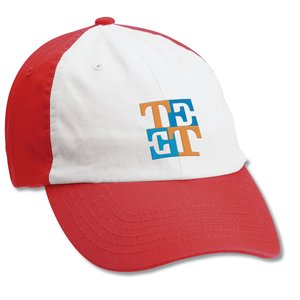 Bio-Washed Cap - White Front - Embroidered