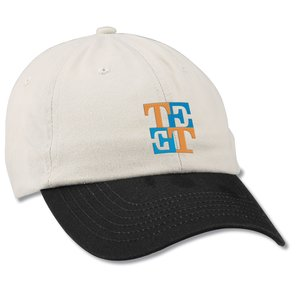 Bio-Washed Cap - Two Tone - Embroidered