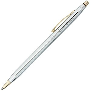 Cross Century Classic Twist Pen - Gold Trim - Chrome Main Image