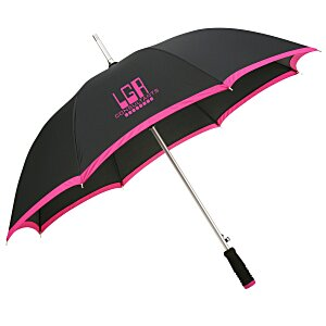 "46"" Arc Edge Two Tone Pongee Umbrella Main Image"