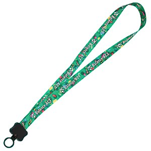"Dye-Sublimated Lanyard - 3/4"" - Holidays Main Image"