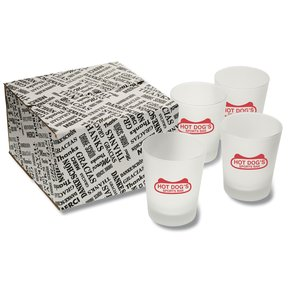 English Hi Ball Glass Set - Frosted Main Image