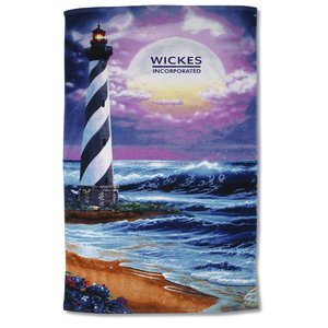 Scenic Beach Towel - Lighthouse Design Main Image