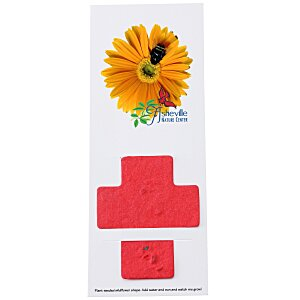 Plant-A-Shape Flower Seed Bookmark - Cross Main Image