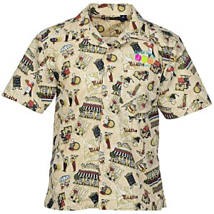 Tropical Print Camp Shirt Main Image