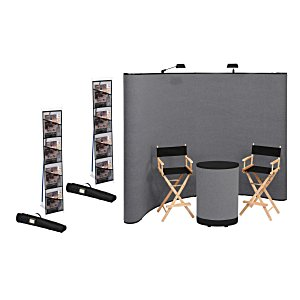 Deluxe Curved Floor Display - 10' - Blank - Kit Main Image
