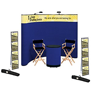 Deluxe Curved Floor Display - 10' - Header - Kit Main Image