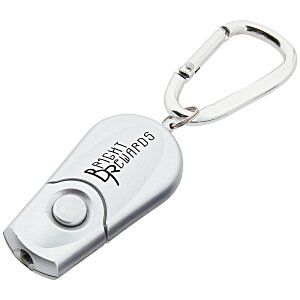 Retractable Carabiner Flashlight - Silver Main Image