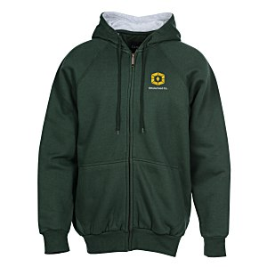 Thermal-Lined Full Zip Sweatshirt - Embroidered Main Image