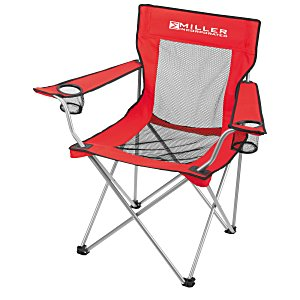 Mesh Folding Chair with Carrying Bag Main Image