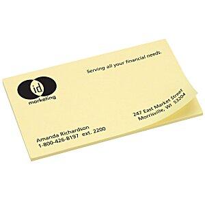 "Post-it® Business Card Notes - 2"" x 3-1/2"" - 50 Sheet Main Image"