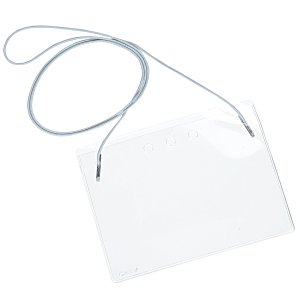 Clear Vinyl Badge Holder with Elastic Neck Cord Main Image