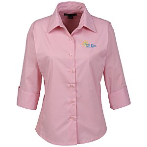 Easy Care 3/4 Sleeve Stretch Poplin Blouse - Ladies'