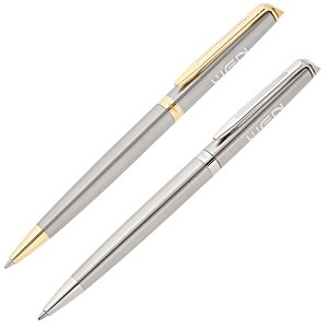 Waterman Hemisphere Twist Metal Pen - Stainless Steel Main Image