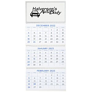 Commercial 14-Month Wall Calendar with 3-Month View