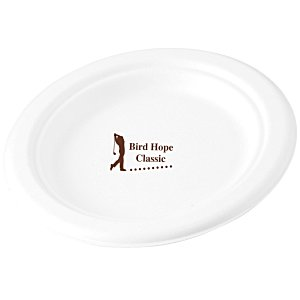 "Compostable Paper Plate - 7"" - Low Qty Main Image"