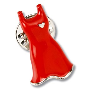 Stock Red Dress Lapel Pin Main Image