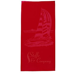 Tone on Tone Stock Art Towel - Sailboat Main Image