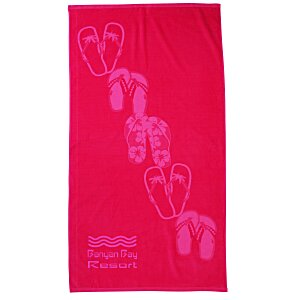 Tone on Tone Stock Art Towel - Sandals