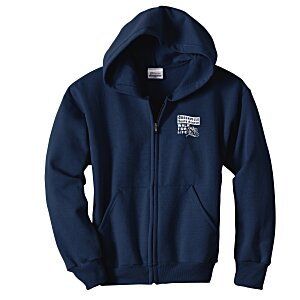 Hanes ComfortBlend Full-Zip Sweatshirt - Youth - Screen Main Image