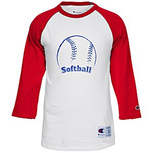 Champion Tagless Raglan Baseball Tee - Screen Main Image