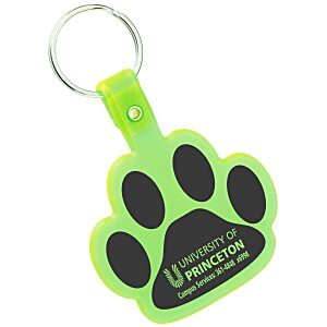 Paw Shaped Keychain - Translucent Main Image