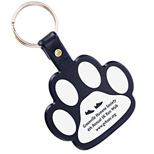 Paw Shaped Key Tag - Opaque Main Image