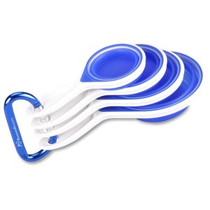 Cool Blue Silicone Measuring Cups Main Image