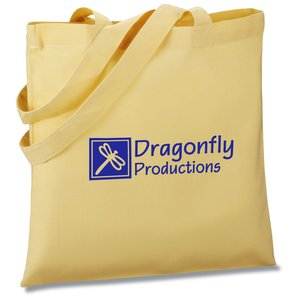 Colored Cotton Sheeting Tote - Organic Main Image