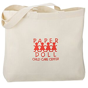 Gusseted Cotton Sheeting Tote - Organic