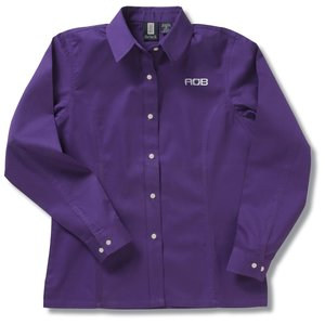 Nanocote Stain Resistant LS Twill Shirt - Ladies' Main Image