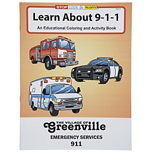 Learn About 911 Coloring Book Main Image