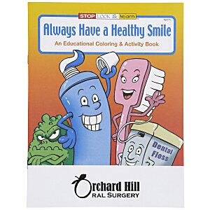 Always Have a Healthy Smile Coloring Book Main Image