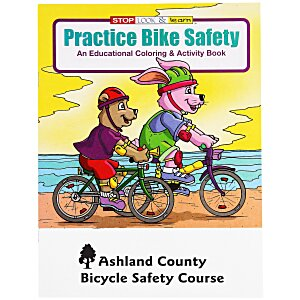 Practice Bike Safety Coloring Book Main Image