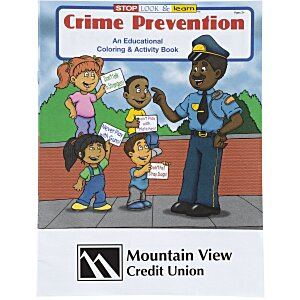 Crime Prevention Coloring Book Main Image