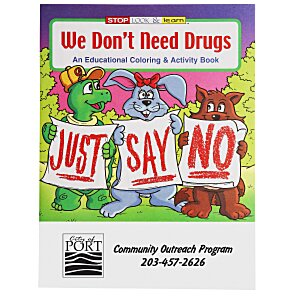 We Don't Need Drugs Coloring Book Main Image