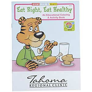 Eat Right, Eat Healthy Coloring Book Main Image