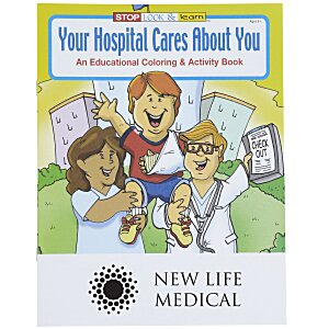 Your Hospital Cares About You Coloring Book Main Image